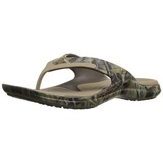 Crocs Mens Modi Sport Realtree Camouflage Slide Flip-Flops - 9