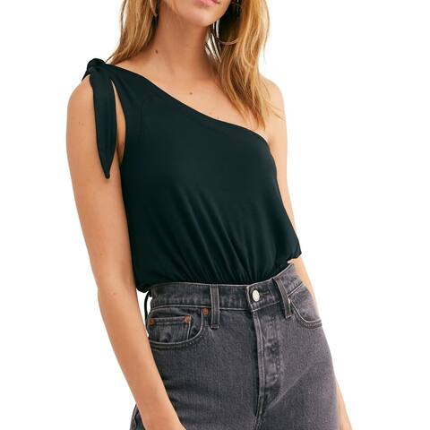 Free People Womens Shindig Tank Top Black Size Small S Tie-Strap Blouson