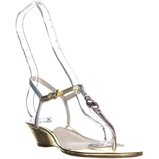 MICHAEL Michael Kors Nora WEdge Sandals, Silver/Gold - 6.5 us