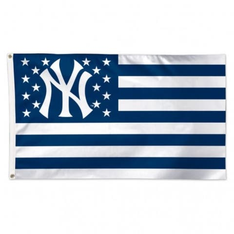 New York Yankees Flag 3x5 Deluxe Style Stars and Stripes Design