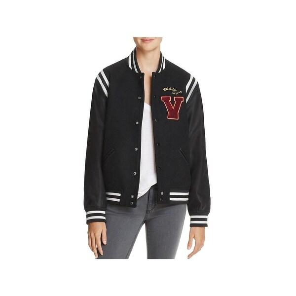 2a7caf694 Shop Vintage Havana Womens Brooklyn Champs Bomber Jacket Leather ...