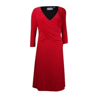 B-Slim Women's Ruched Pleated Top Jersey Dress (3 options available)