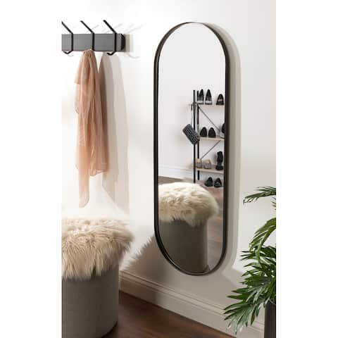 Kate and Laurel Rollo Capsule Framed Wall Mirror