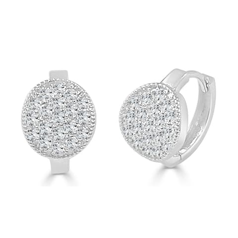 Diamond Earrings 14k White Gold 5/8ct TDW by Joelle Collection
