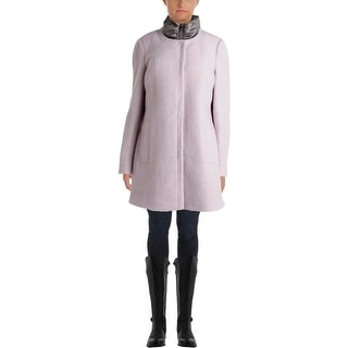 Calvin Klein Womens Boucle Quilted Liner Coat - L