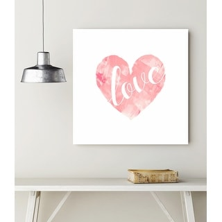 Painted Heart - Designs of Love - 24x24 Gallery Wrapped Canvas Wall Art
