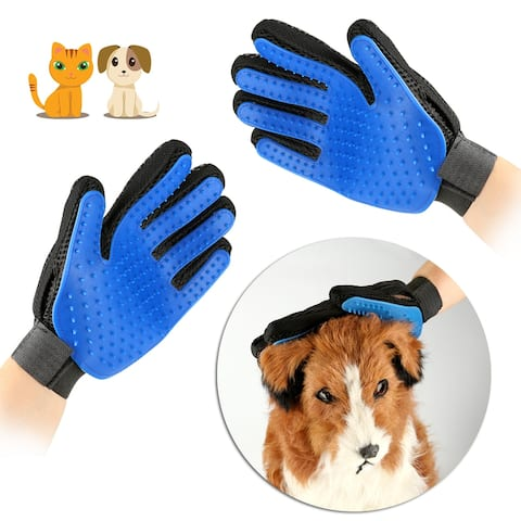 "AGPtek Pet Dog Hair Remover Grooming Protective Gloves 2 pack - 7'10"" x 9'37"""