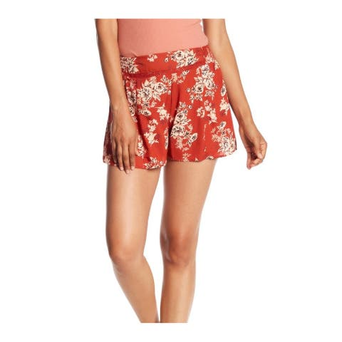 Angie Womens Medium Floral-Print Pull-On Shorts