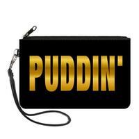 Harley Quinn Puddin' Black Gold Fade Canvas Zipper Wallet