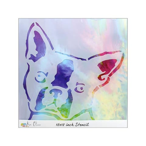Tukn07571 contact crafts koliver stencil 12x12 bostonterrier