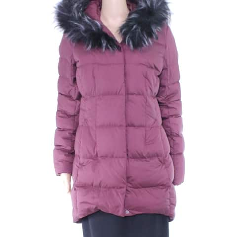 The North Face Womens Coat Purple Size Small S Parka Hooded Faux Fur