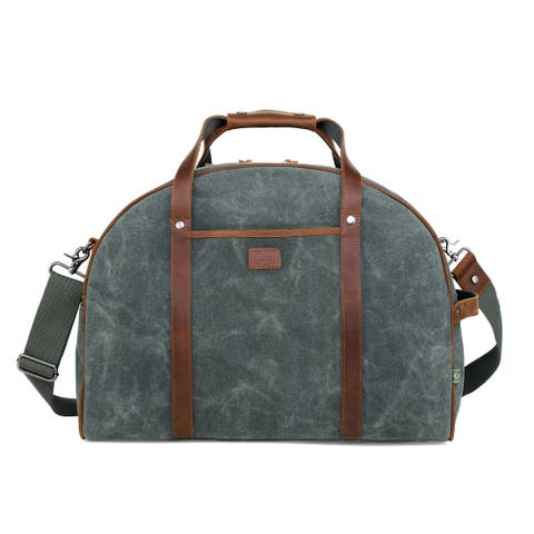 TSD Brand Stone Creek Waxed Canvas Travel Bag