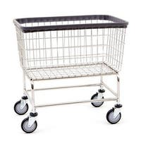 Large Capacity Wire Frame Metal Laundry Cart