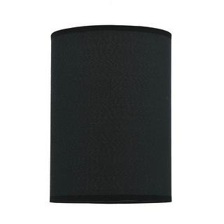 "Link to Aspen Creative Hardback Empire Shape Spider Construction Lamp Shade in Black (8"" x 8"" x 11"") Similar Items in Lamp Shades"