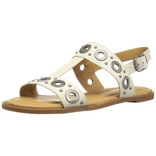 Lucky Brand Womens LK ANSEL2 Leather Open Toe Casual Slingback Sandals