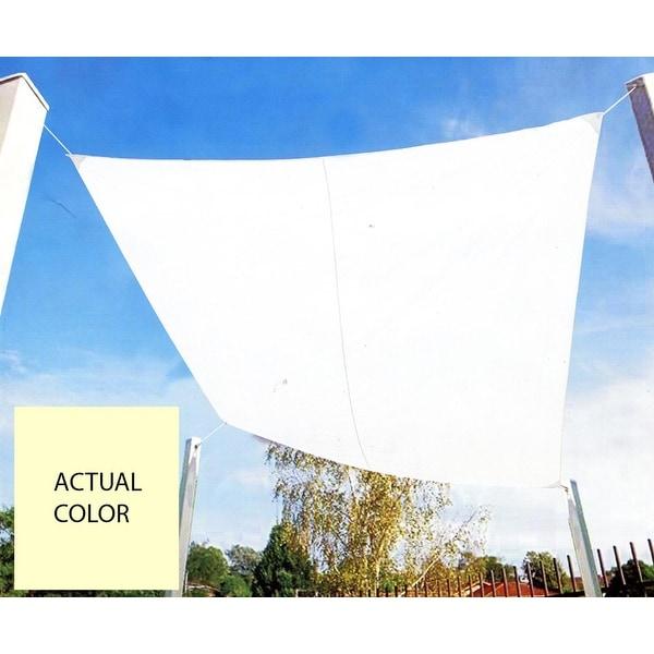 9.75u0026#x27; Ivory Square Outdoor Patio Sun Shade Tarp