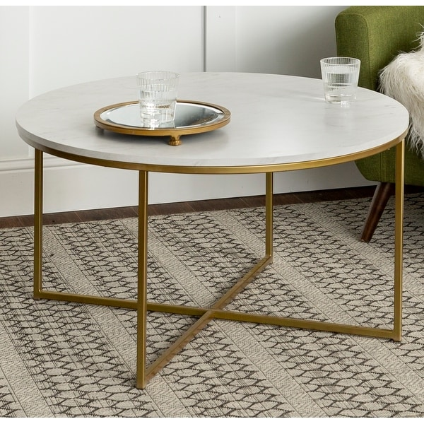 Silver Orchid Helbling Round Coffee Table. Opens flyout.
