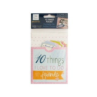 10 Things Friends Journaling Pocket - Pack of 24