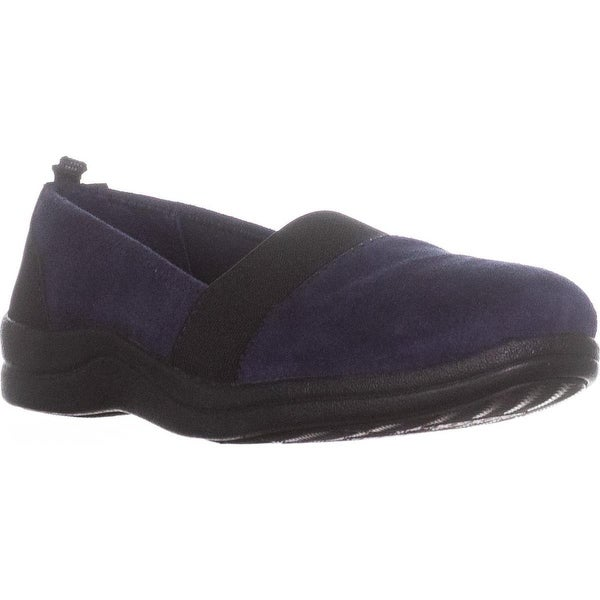 Easy Street Lovey Stretch Comfort Flats, Navy/Black - 7 w us