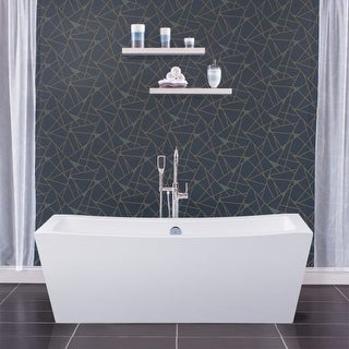 "Miseno MNO7035FSR 70"" Rectangular Free Standing Bathtub with Center Drain"
