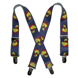 CTM® Kids' Elastic 1 Inch Wide Clip-End Duck Pattern Suspenders - ducks - One Size
