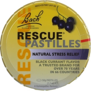 Bach Black Currant Flavor Rescue Pastilles, 1.7 Oz (Pack Of 12)