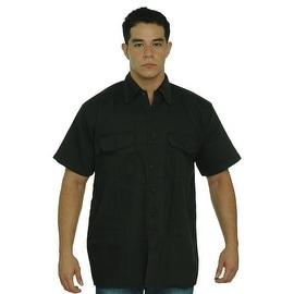 Men's Basic Mechanic Work Shirt Button-Down 2 Front Pockets Casual Top 2 Tone M-XL,2XL-5XL