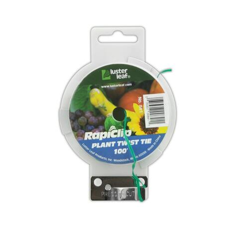 Luster Leaf 841 Plant Twist Tie with Cutter, Green, 0.4 MM x 100'