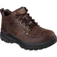 Skechers Men's Relaxed Fit Holdren Lender Boot Dark Brown