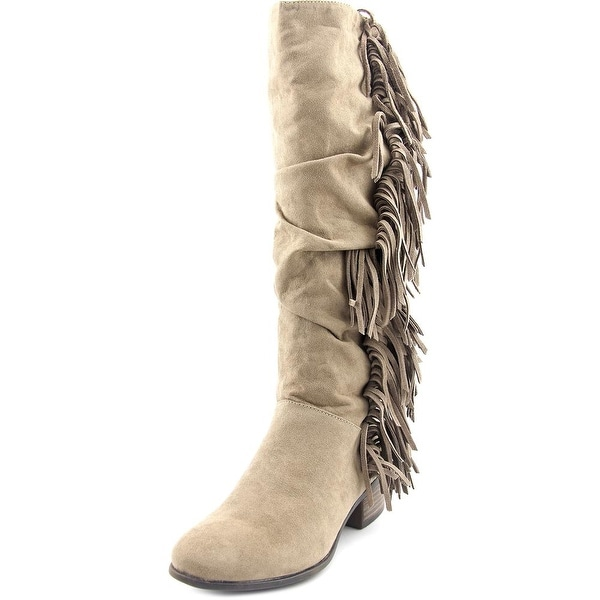 Madden Girl Pondo Round Toe Synthetic Knee High Boot