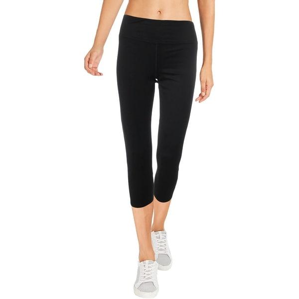 Splendid Women's Cut-Out Back Twist Activewear Capri Fitness Leggings - Black. Opens flyout.