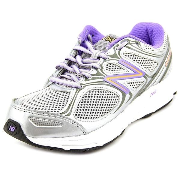 New Balance M840 Women 2A Round Toe Canvas Silver Walking Shoe