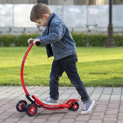 Goplus Aluminum Portable Foldable Kick U Shape Scooter for Children Kids Wheels Outdoor