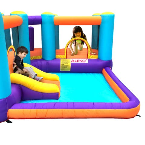 ALEKO Extra Large Inflatable Bounce House with Splash Pool and Slide