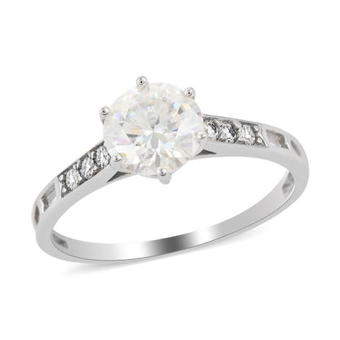 Shop LC White Gold Moissanite Anniversary Ring Jewelry Gift Ct 1.6