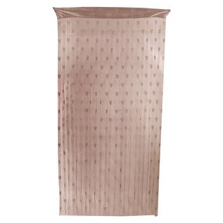 Window Heart Pattern Tassel Panel Divider Decoration String Curtain Coffee Color