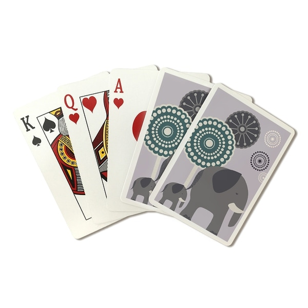 Simple Elephant - Purple - LP Artwork (Poker Playing Cards Deck)