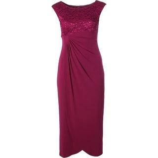 Connected Apparel Womens Formal Dress Lace Embellished