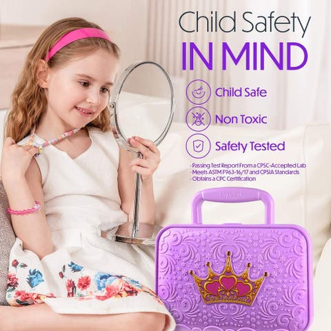 Toysical Kids Makeup Kit for Girls - Tween Makeup Set for age 6-10 yrs