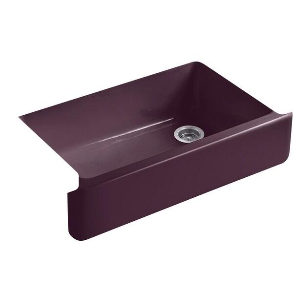 """Kohler K-6489 Whitehaven 34"""" Undermount Single Basin Cast Iron Kitchen Sink"""