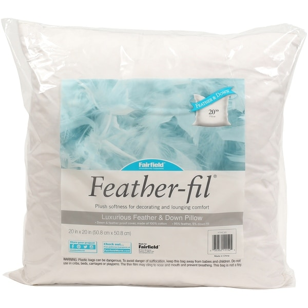 Fairfield Feather Fil Down Pillow Insert 20 X20 Fob Mi Free Shipping On Orders Over 45 25445487