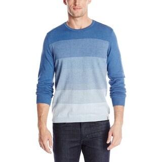 Calvin Klein CK Striped Crewneck Sweater XX-Large Endurance Light Blue - 2XL