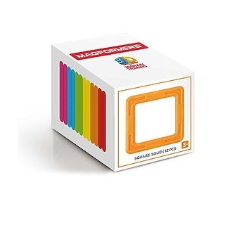 Magformers 12-Piece Square Building Set, Rainbow - Multi