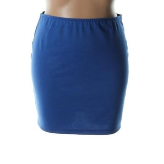 Aqua Womens Solid Ponte Mini Skirt - S