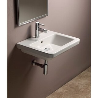 "Bissonnet 05040 Universal Street 21-7/10"" Wall Mounted Rear Drain Bathroom Sink"