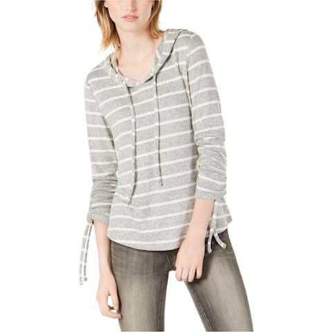 Bar Iii Womens Tie-Sleeve Hoodie Sweatshirt