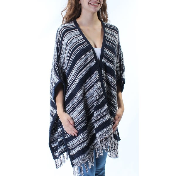 a12bed8d1839 Shop Womens Navy Striped Dolman Sleeve Open Vest Top Size ONE SIZE - Free  Shipping On Orders Over $45 - Overstock - 23455243