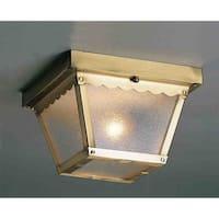 Volume Lighting V7231 1-Light Flush Mount Outdoor Ceiling Fixture - n/a