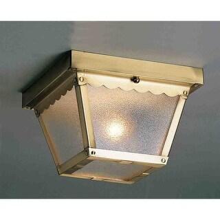 Volume Lighting V7232 2-Light Flush Mount Outdoor Ceiling Fixture