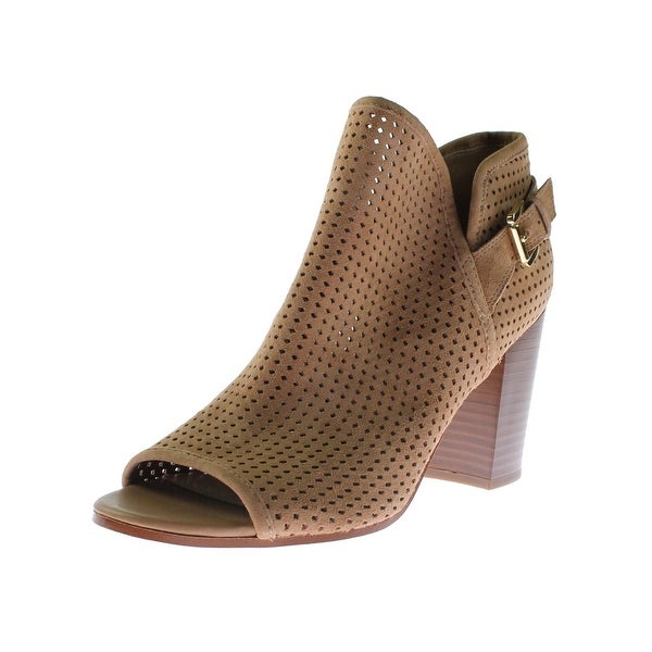 Sam Edelman Womens Easton Ankle Boots Suede Perforated
